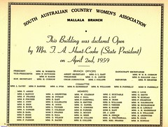 Opening of CWA Mallala building in1959