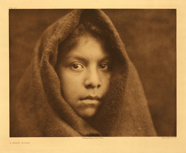 Makah maiden, by Edward S. Curtis