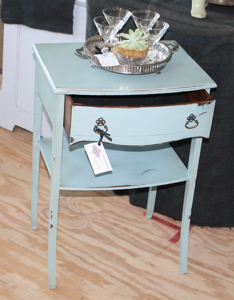 Blue Distressed End Table Sold Kerry Draicchio Flickr