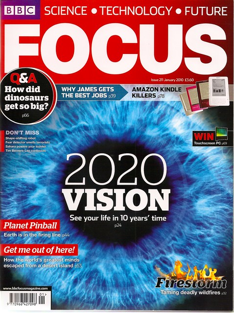 BBC Focus Magazine Cover | Clocky in a Coconut