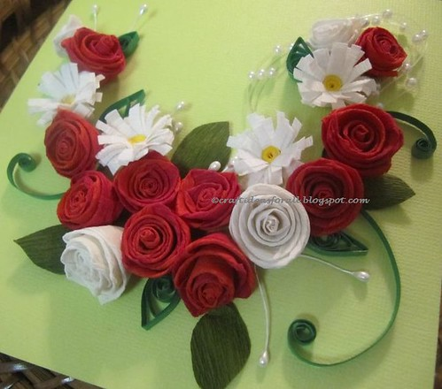 Football wallpaper cool paper quilling rose and daisy arrangement paper quilling rose and daisy arrangement mightylinksfo
