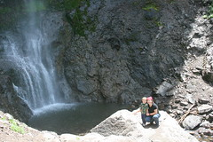 waterfall, adventure, rock,