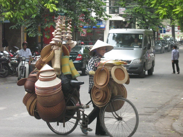 Caneware shop on a bike, July 2010