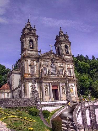 portugal church stairs canon geotagged powershot g1 hdr braga prt canonpowershotg1 powershotg1 photomatix 3exp senhoradarocha geo:lon=837782085 geo:lat=4155489888