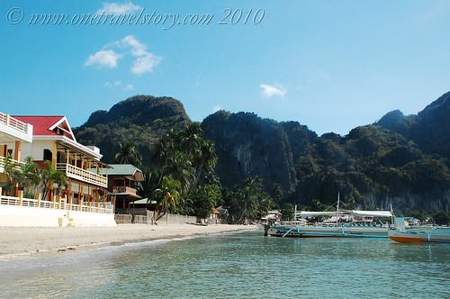 In front of El Nido Beach Hotel, El Nido, Palawan