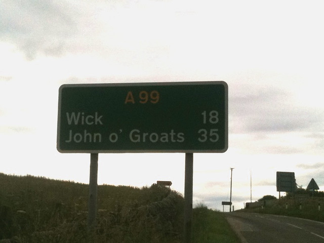 On the A99, the final road
