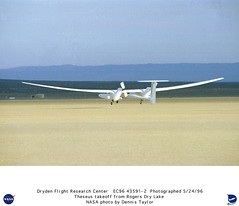 Theseus Take-off from Rogers Dry Lake