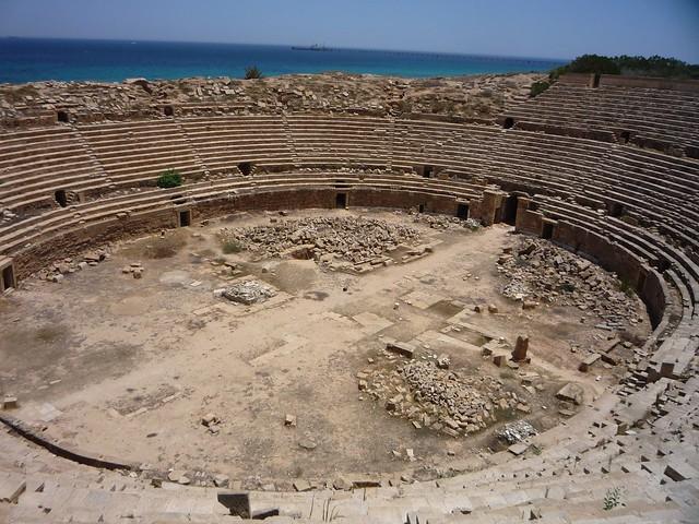 Anfiteatro de Leptis Magna. Libia.