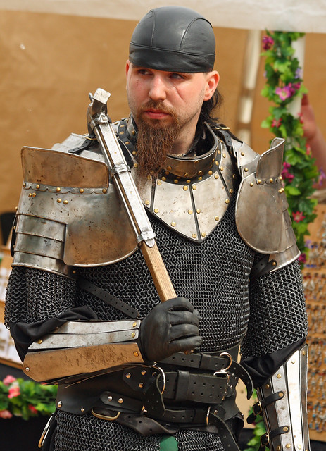 General Khaine, leader of the Iron Wolves, at the Three Barons Renaissance Faire