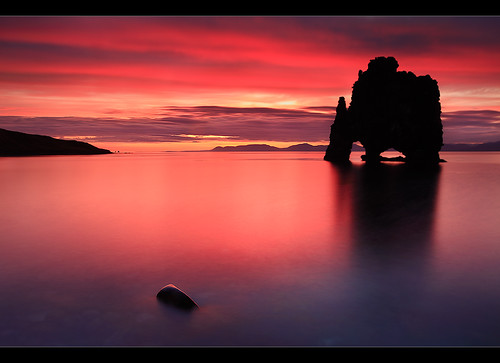 Blood Red Sunset - Hvítserkur, Iceland
