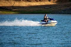 Jet skiing on Calero Reservoir