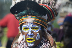 Representative from the Highland at the Mount Hagen Show