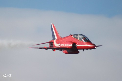 RAF Red Arrows over Falmouth, 11th August 2010 by Stocker Images