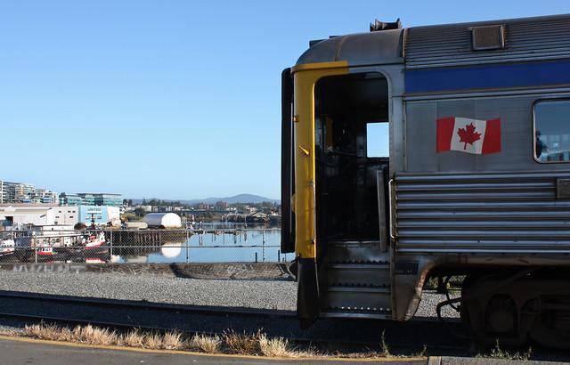 Victoria-Courtney RDC train, Victoria BC. July 23 2010.