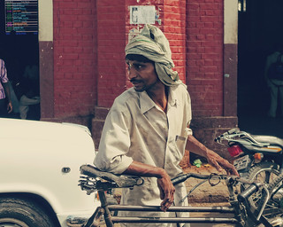 Rickshaw ~ Lucknow train station