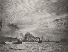 Hamburg Harbour, Steam Ferries, 1925, by E.O. Hoppe