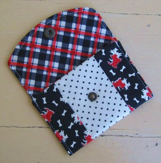 SCOTTIE DOGS- Polka Dots- Plaid- MINI WALLET