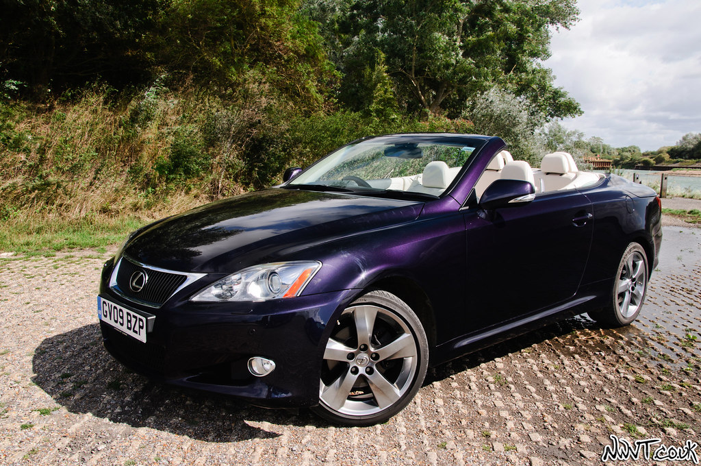 Purple 2009 Lexus IS 250 Convertible High Mostly Side On Front Quarter Shot