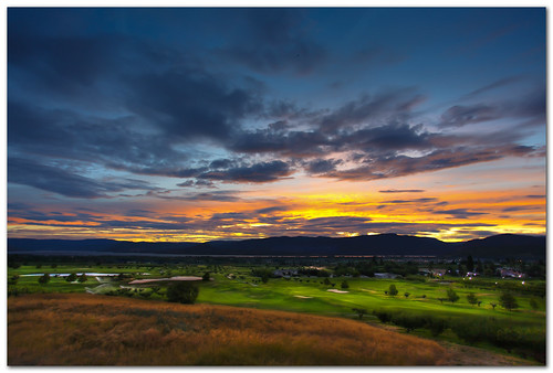 sunset sky canada mountains clouds bc burn golfcourse dodge kelowna dri hdr loverslane
