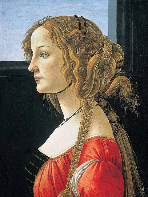 Sandro Botticelli: Simonetta Vespucci (or portrait of a young Lady)