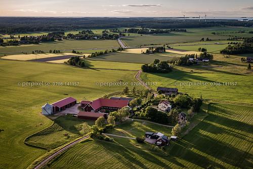 hamburgsund flygfoto hasslerör gård rör mariestad västragötaland sverige swe