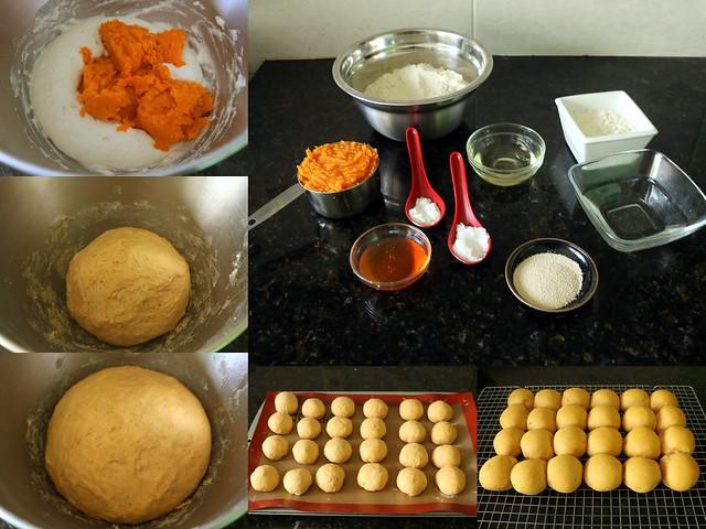 Pãezinhos de batata doce