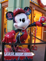 Mickey Mouse St. Louis Cardinals All-Star Games Statue in Downtown Disney