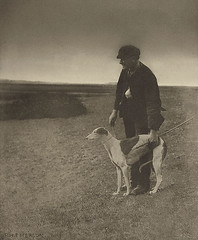 The Poacher - A Hare in View, by Peter Henry Emerson 1886