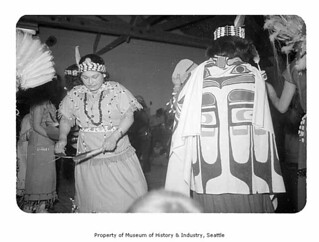 Alva Ward during an event at Makah Indian Reservation