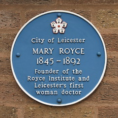 Photo of Mary Royce blue plaque