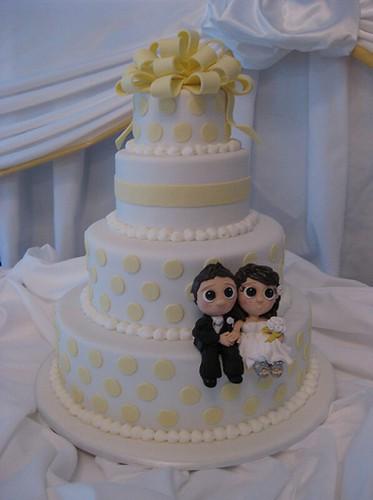 Cute Wedding Cake Topper   Austin Wedding Blog