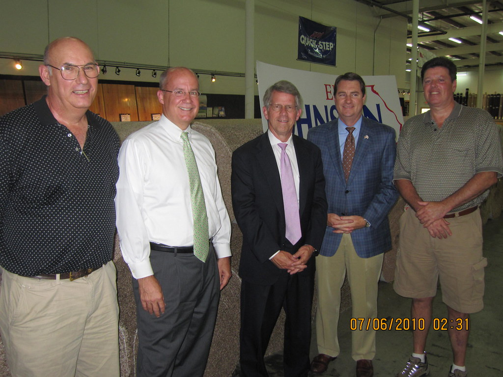 Tax Cut Announcement at Beckler's Carpet in Dalton, Ga