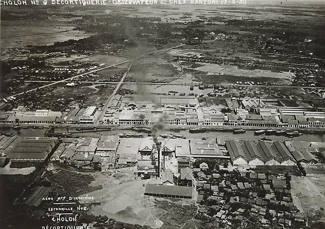 Vue aérienne de la Ville de Cholon (vers 1930)