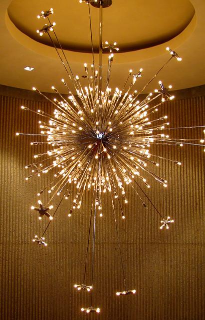Sputnik Chandelier In Living Room