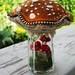 Caramel colored mushroom cap. by woolly  fabulous