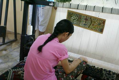 In some parts of the world they use traditional hand-weaving techniques to produce statement rugs.