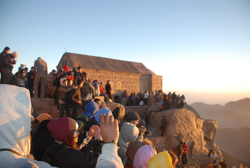 watching the sunrise, MountSinai, Egypt