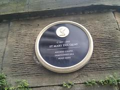 Photo of St Mary Del Quay, Liverpool black plaque