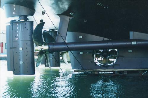 Alinhamento dos internos de um navio