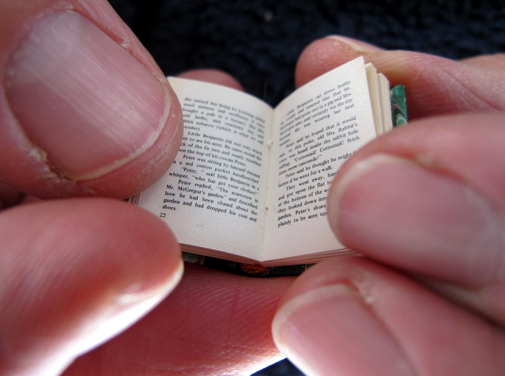 Miniature 1/12th scale book by The Shopping Sherpa