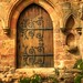(1138) door / Bolton Abbey / uk