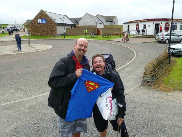 A huge surprise to see Dave at the finish line!