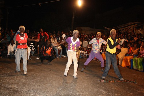 <p>A boys dance crew shows off their style and coordination as invited guest of the hostess, dancer Maman Diallo.</p>