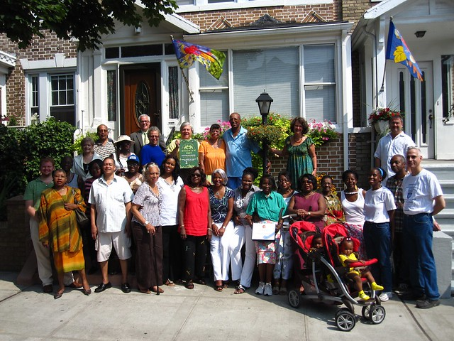 Winners of the 2010 Greenest Block in Brooklyn: Vanderveer Place Block Association.