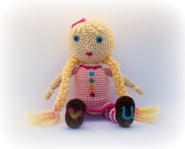 Crochet Patterns Only: Puppet Boy in a Blanket