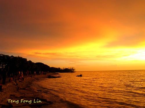sunset landscape golden scenery muar tanjungemas tanjungketapang goldensunday bandarmaharani tfltfl