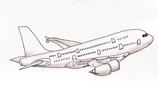 Airbus a380 coloring pages sketch coloring page for A380 coloring pages