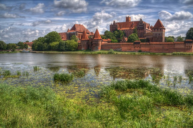 Vista del castillo de Malbork