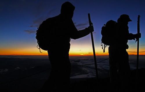 hikers of Mt Fuji