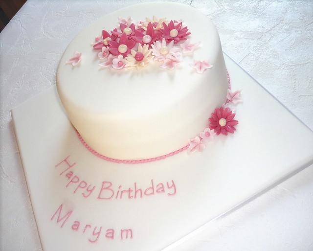 happy birthday mariam cake with name on birthday cake name app